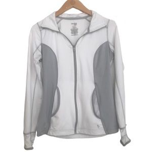 DANSKIN NOW Semi Fitted Athletic Jacket White